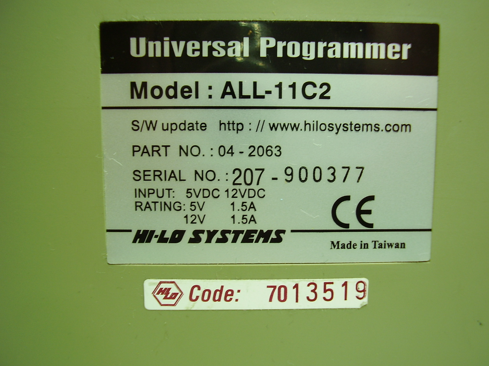 Universal Programmer All 11c2 Hilosystems Eprom Circuit Diagram Ttl Module Schematic For All11 Pdf 1 Page 22kb