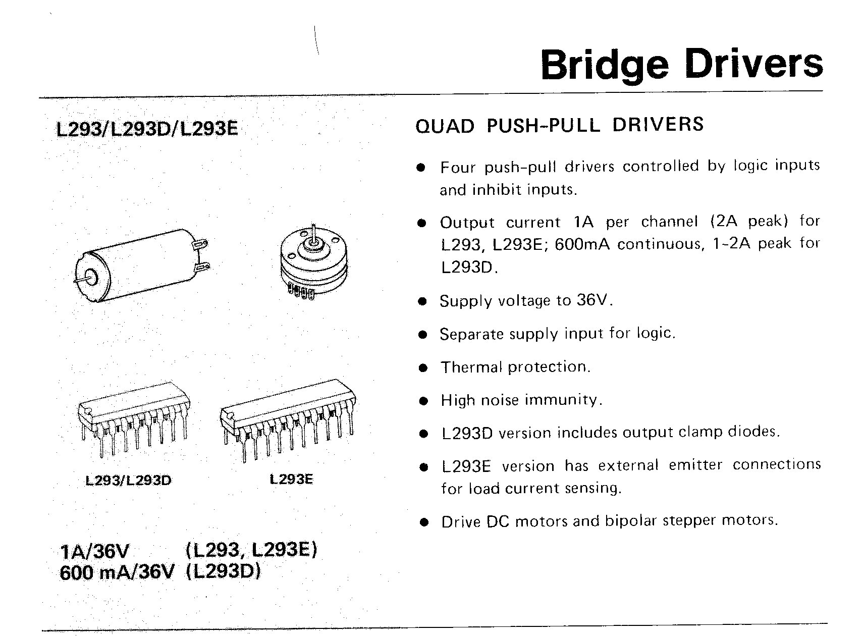 Resources Index Also Stepper Motor Schematic On L297 Driver Unipolar Applications Of Monolithic Bridge Drivers L293 L293e L298 Pdf 27mb Tip122 Parallel