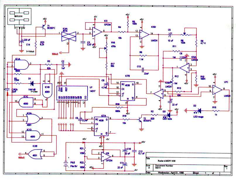 Radar hyperfr quence autonome base du mdu1030 for Porte xor avec nand